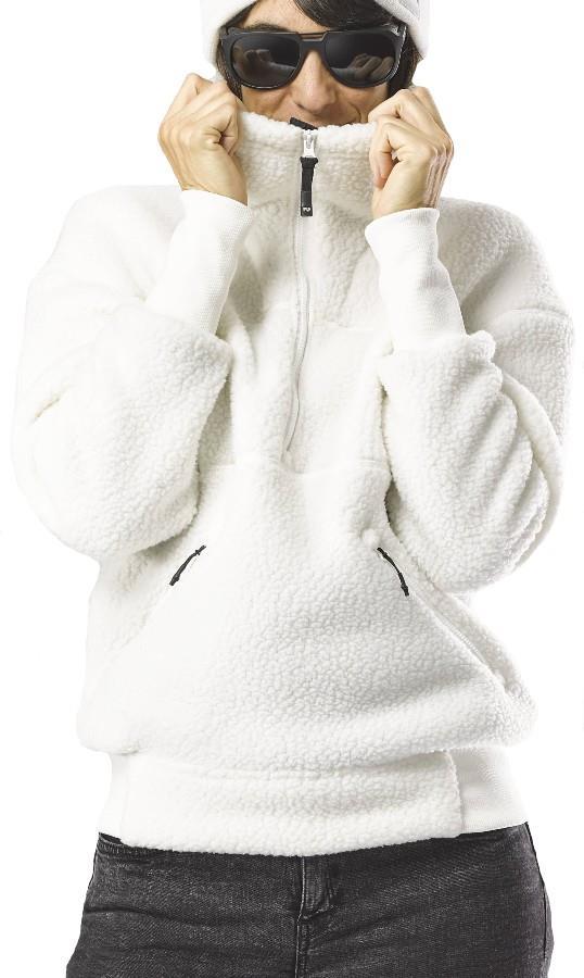 FW Root Pillow Women's Pullover Midlayer Fleece, XS Snow White