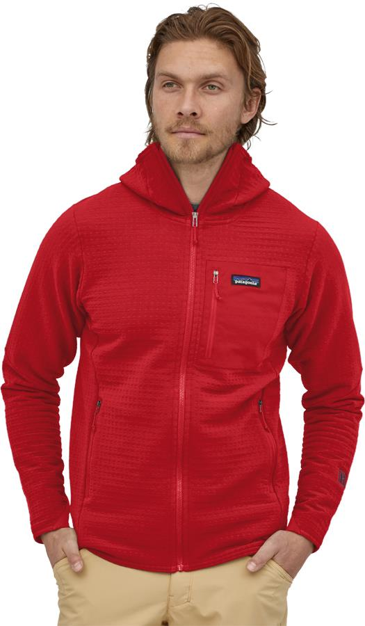 Patagonia Adult Unisex R2 Techface Hoody Softshell Jacket, S Classic Red