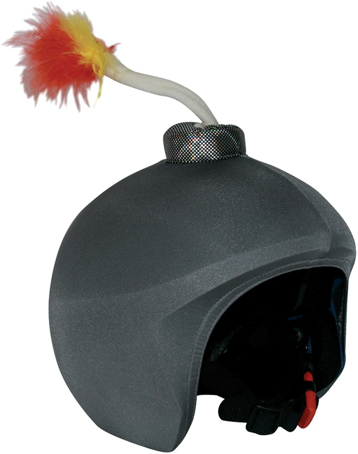 Coolcasc Show Time Ski/Snowboard Helmet Cover, One Size, Bomb