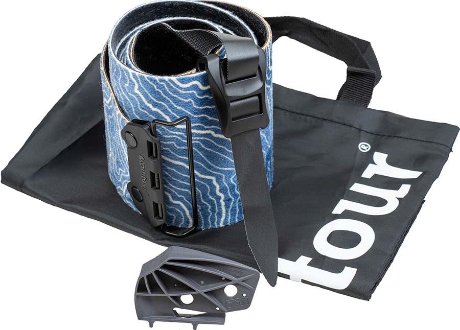 Contour Hybrid Mix Mohair Blend Climbing Skins, 135mm 177-184 Blue