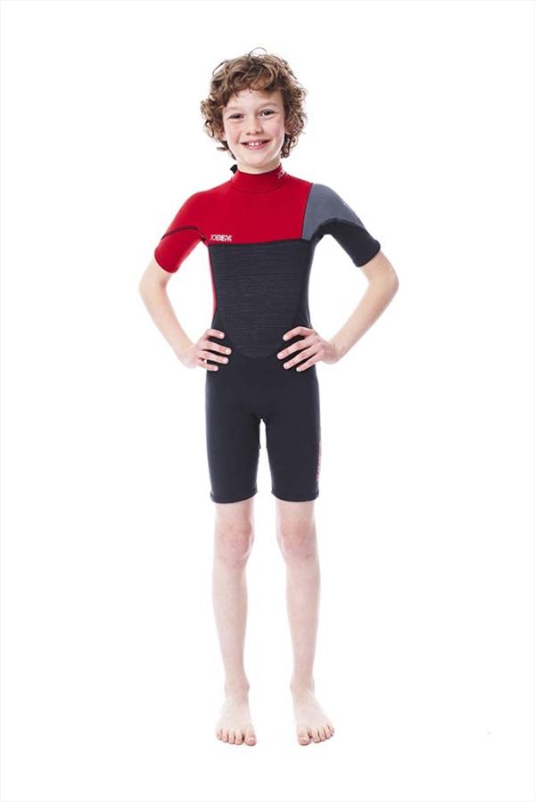 Jobe Boston 2mm Kids Shorty Wetsuit, 2XS Black Grey Red 2020