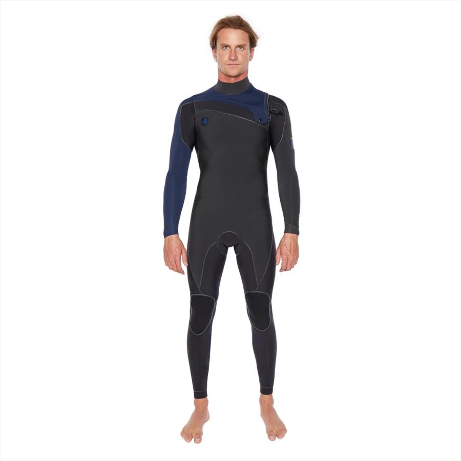 Body Glove Prime 3/2 Slant Zip Full Suit Surfing Wetsuit, MS Blue Grey