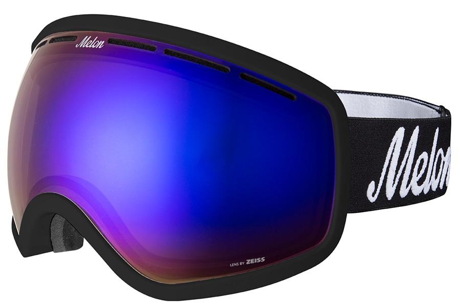 Melon Chief Blue Chrome Snowboard/Ski Goggle, M/L Black