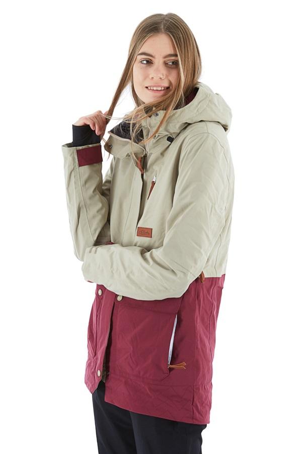 Planks All-Time Insulated Women's Ski/Snowboard Jacket, Xs Mushroom