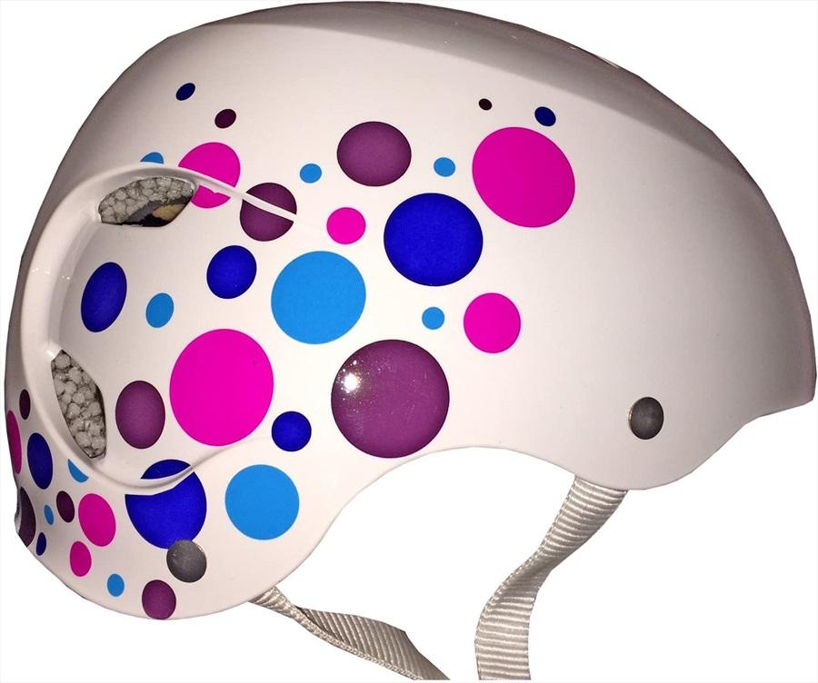 Bern Brighton H2O Ladies Watersports Helmet, L White/Polka Dot