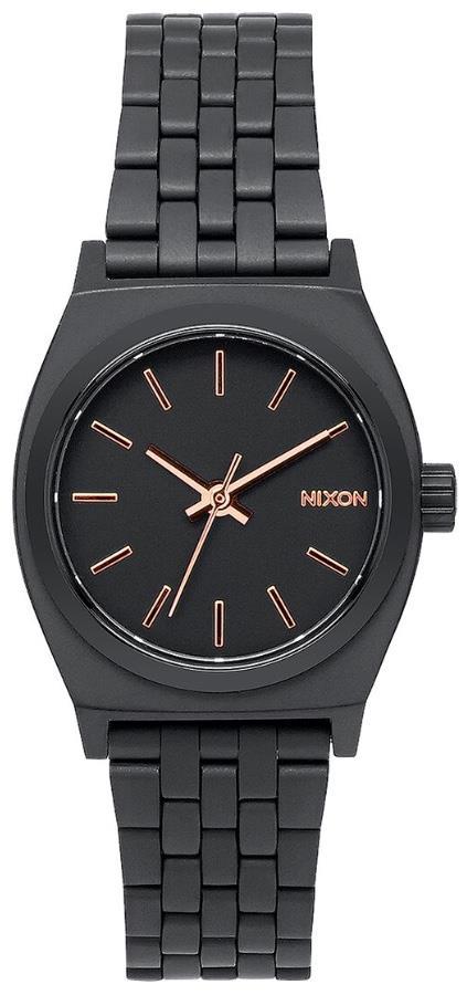 Nixon Small Time Teller Women's Analog Watch All Black/Rose Gold