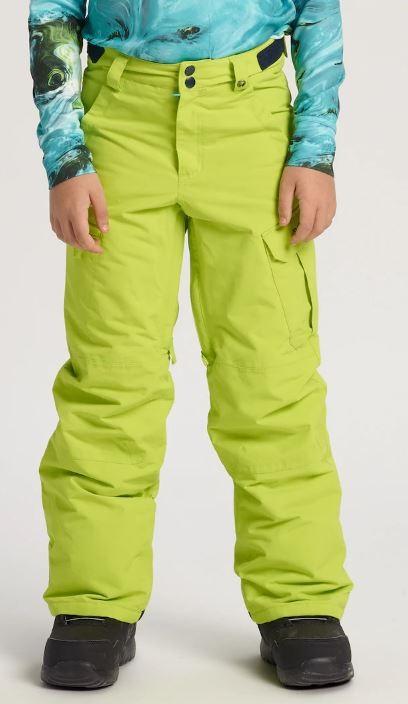 Burton Boys Exile Cargo Snowboard Pants, S Tender Shoots