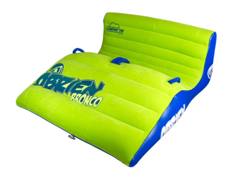 O'Brien Bronco Plush Top Towable Inflatable, 2 Rider Green