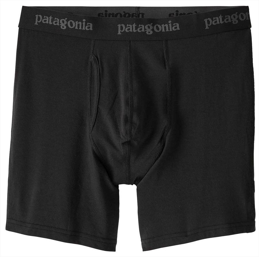 """Patagonia Essential Boxer Briefs 6"""" Underwear, S Black"""