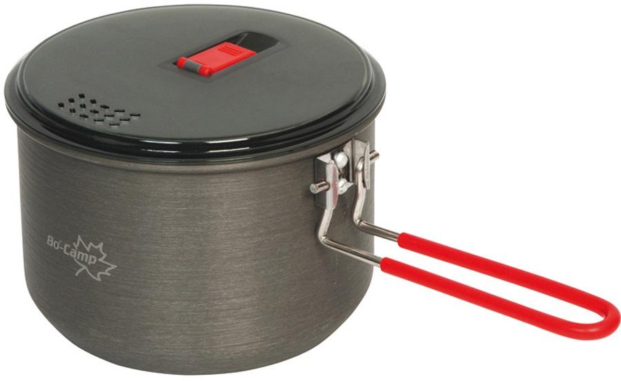 Bo-Camp Lightweight Pan Aluminium Camping Pan, 1L Anthracite