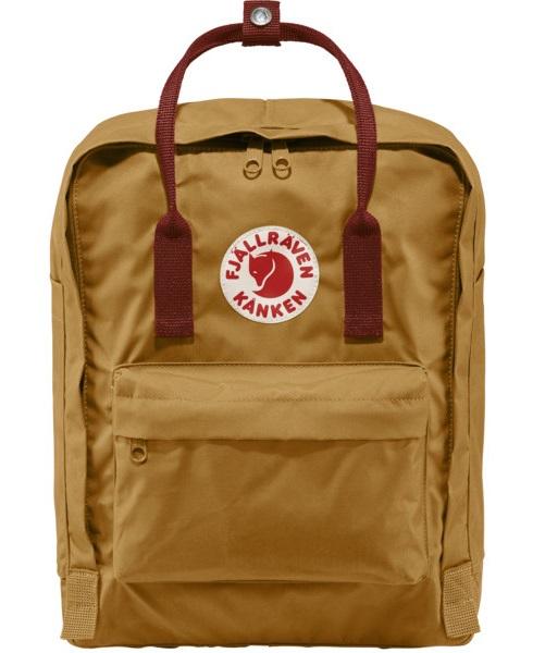 Fjallraven Kanken Day Pack/Backpack, 16L Acorn/Ox Red
