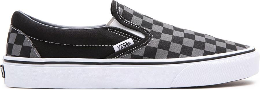 Vans Classic Slip-On Skate Shoes, UK 7 Black/Pewter Checkerboard