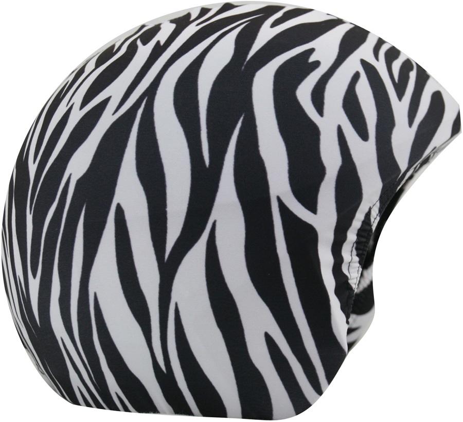 Coolcasc Printed Cool Ski/Snowboard Helmet Cover, Zebra