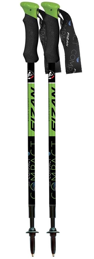 Fizan Compact Ultralight Trekking Poles, 59-132cm Green