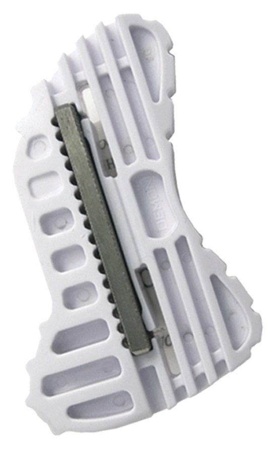 Demon Tuner Ski/Snowboard Edge Tool, One Size White
