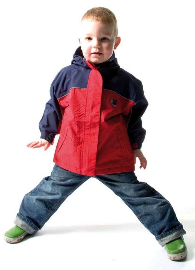 Bushbaby Rip-Stop Jacket Kid's Waterproof Hooded Coat, 2 Years Old Red