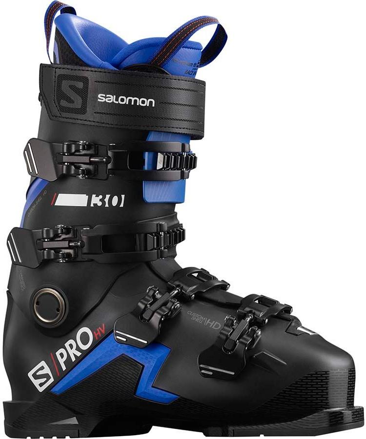 Salomon S/PRO HV 130 Ski Boots, 29/29.5 Black/Race Blue 2021