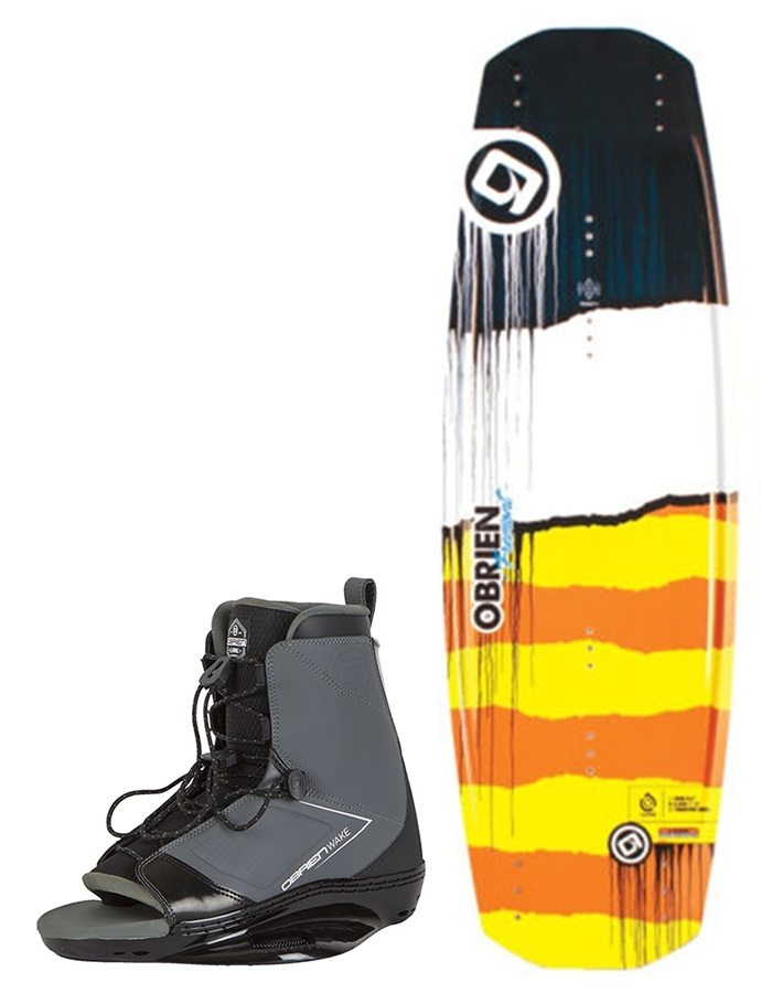 O'Brien Fremont   Link Park Wakeboard Package, 138  UK 3.5-5.5 Yellow