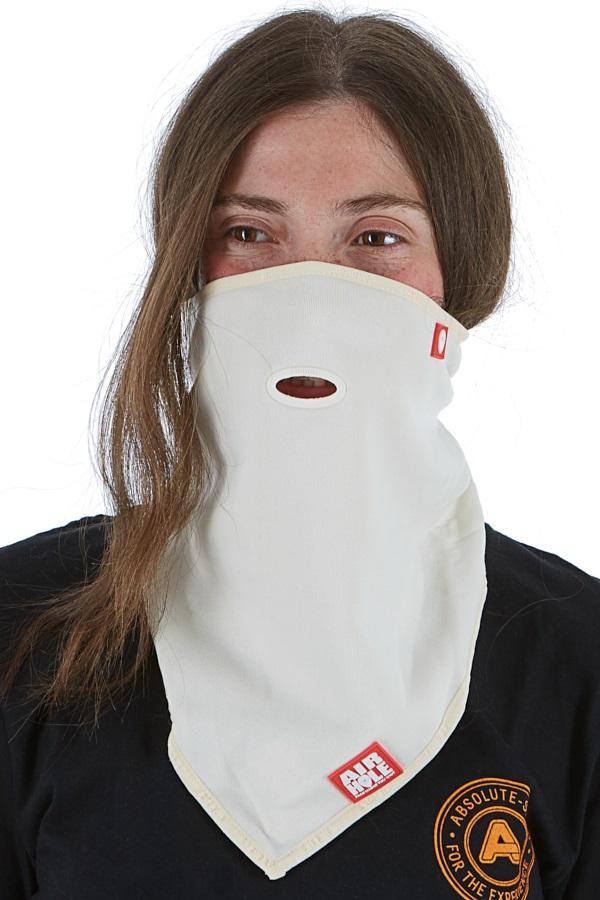 Airhole Standard Lite 2-Layer Snowboard/Ski Face Mask, S/M Milk