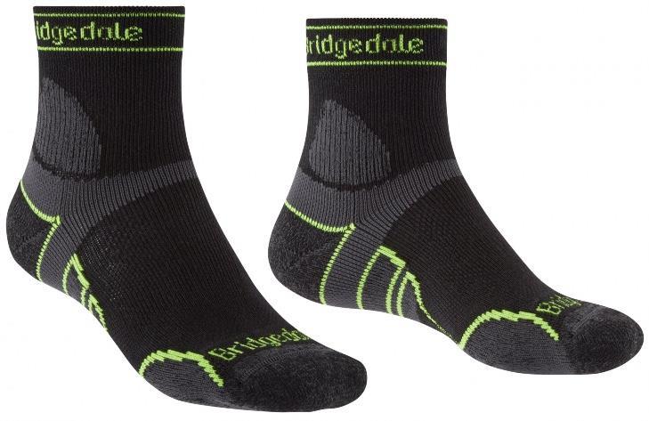 Bridgedale Trail Run Lightweight T2 Merino Running Socks, M Black