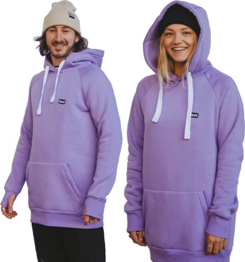 bro! Park Edition Unisex Ski/Snowboard Hoodie, M Lavender