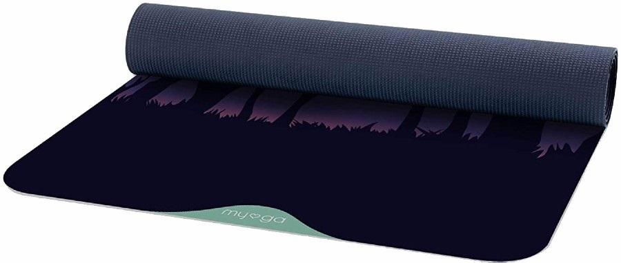 Myga Jordia Pro Printed Yoga/Pilates Mat, 6mm Woodland