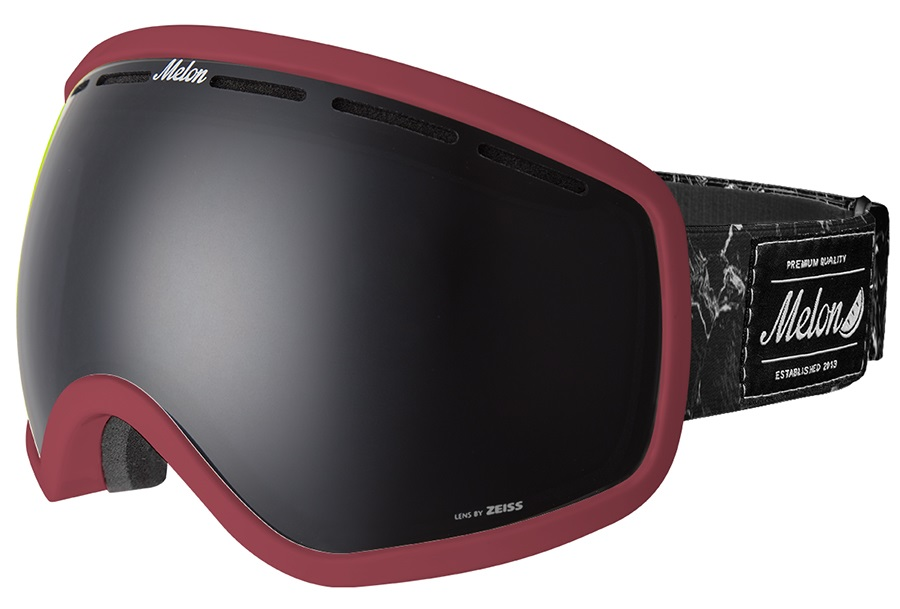 Melon Chief Dark Smoke Snowboard/Ski Goggle, M/L Burgundy