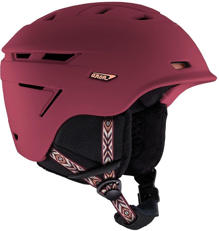 Anon Omega MIPS Women's Ski/Snowboard Helmet, S Bohemian Maroon