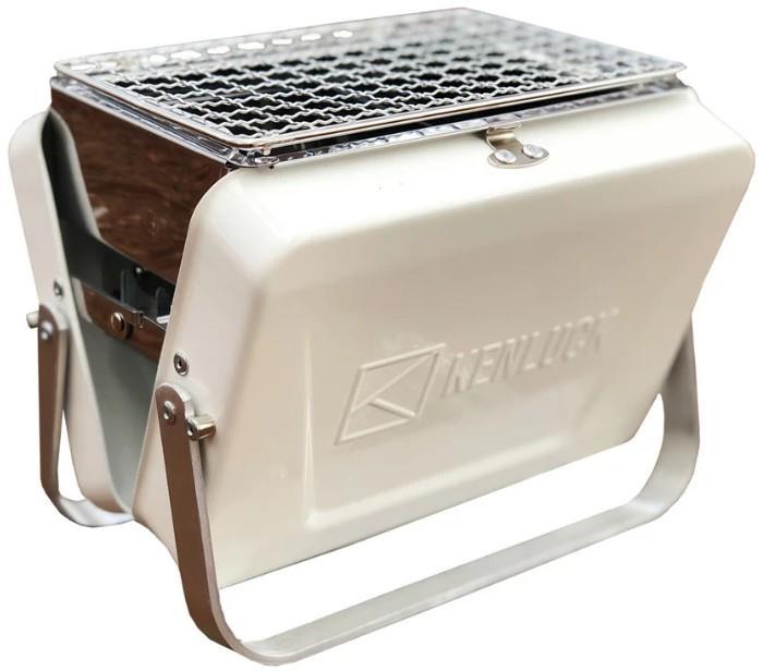 Kenluck Mini Grill Portable Camping BBQ, Athena Matte White
