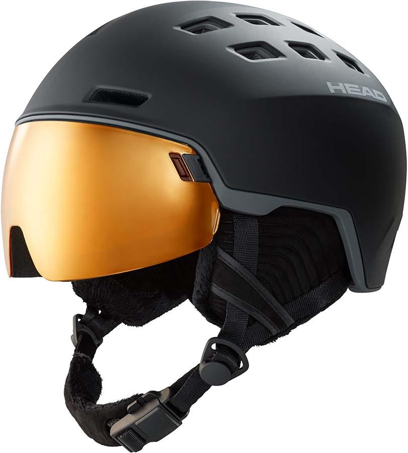 Head Radar Pola Orange Ski/Snowboard Visor Helmet, M/L Black