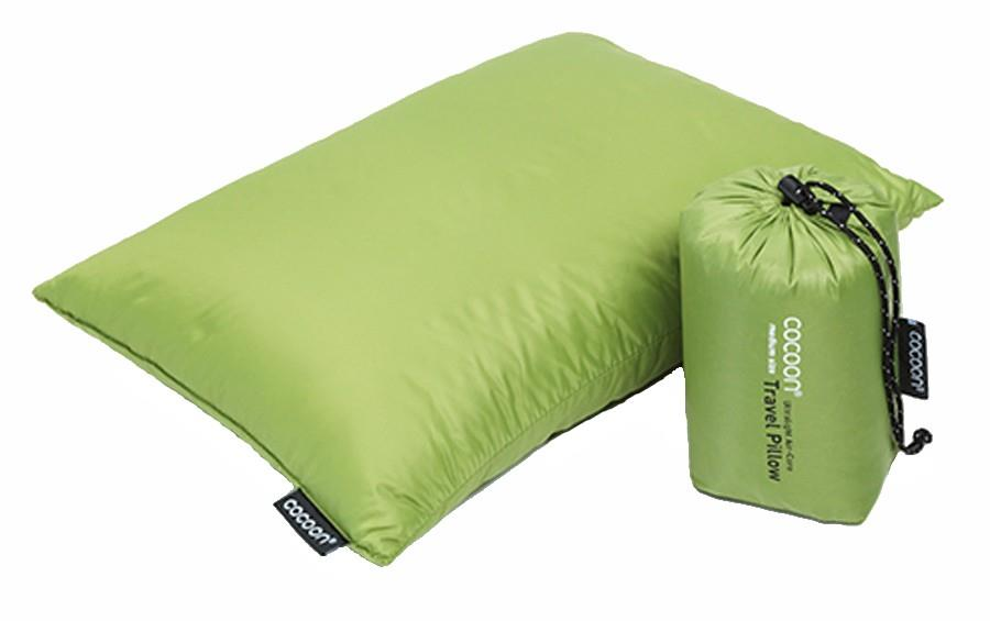 Cocoon Down Travel Pillow Compact Carry-On Pillow, M Wasabi