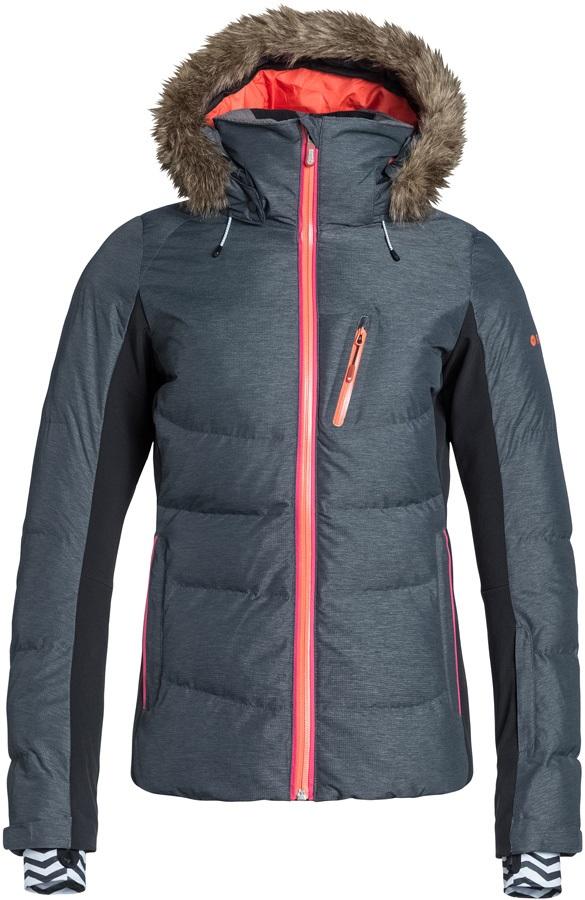 Roxy Snowstorm Women's Snowboard/Ski Jacket, XS, Anthracite