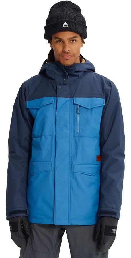 Burton Men's Covert Ski/Snowboard Jacket, S Vallarta Blue/Mood Indigo