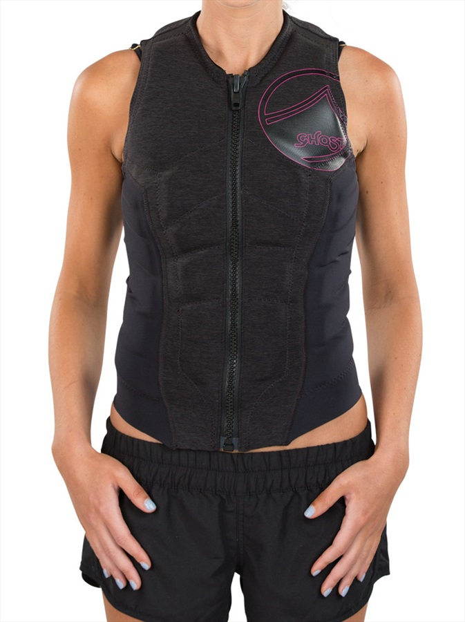 Liquid Force Ghost Comp Ladies Wakeboard Impact Vest, XS Coal Pink