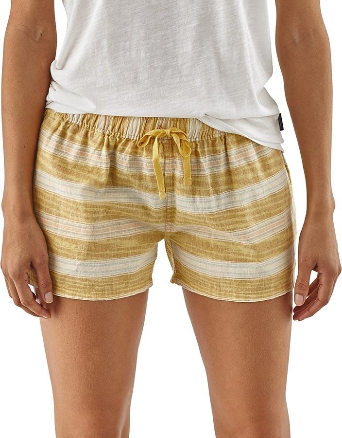 Patagonia Women's Island Hemp Baggies Women's Shorts UK 10 Yellow