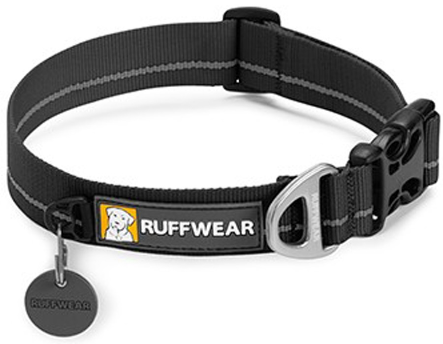 Ruffwear Hoopie Webbing Dog Collar L Obsidian Black