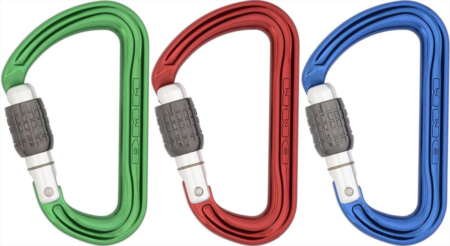 DMM Shadow Screwgate 3-Pack Rock Climbing Carabiner One Size Screwgate