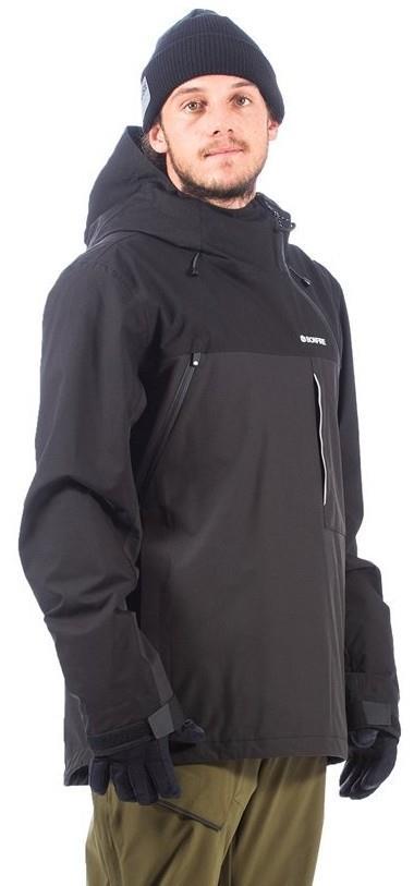 Bonfire Beta Stretch Pullover Ski/Snowboard Jacket, M Black