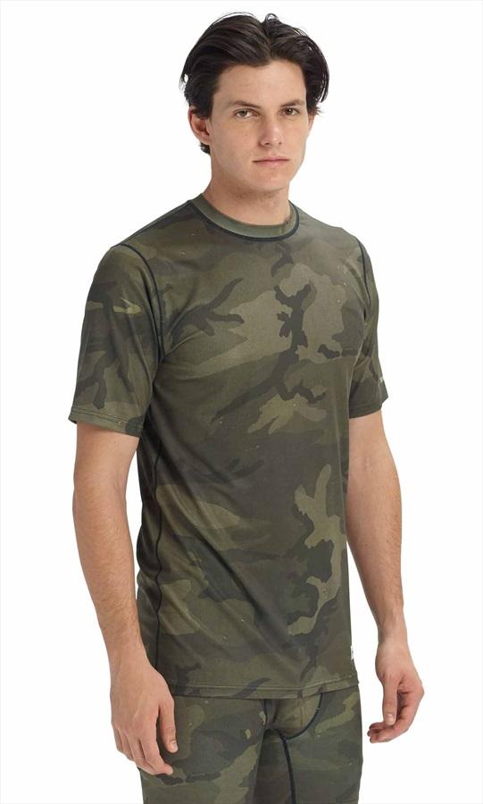 Burton Lightweight Tee Base Layer T-Shirt, S Worn camo