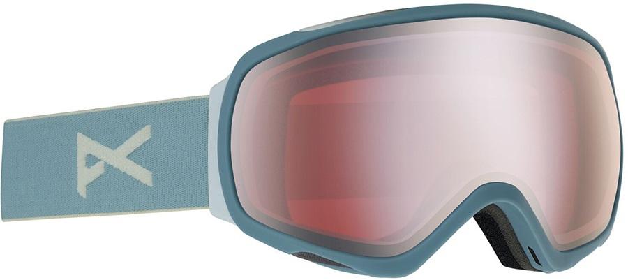 Anon Tempest Sonar Silver Women's Ski/Snowboard Goggles, S/M Slate