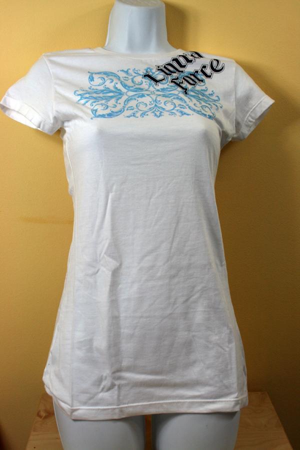 Liquid Force Funhouse Knit S Ladies T Shirt, XL White