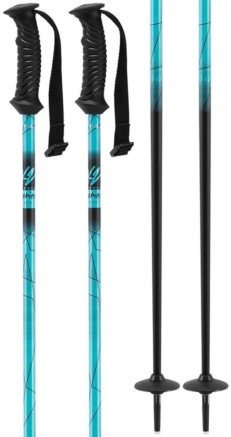 K2 Style Aluminium Women's Ski Poles, 110cm Blue