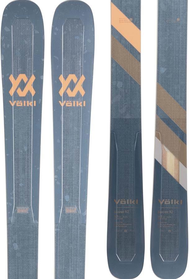 Volkl Adult Unisex Secret 92 Women's Skis 156cm, Blue, Ski Only, 2021
