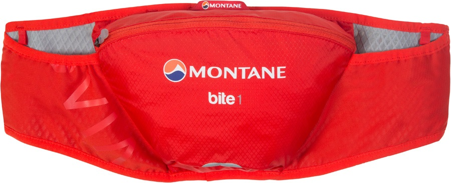 Montane VIA Bite 1 Stretch Fit Trail Running Belt Pouch, 1L Flag Red