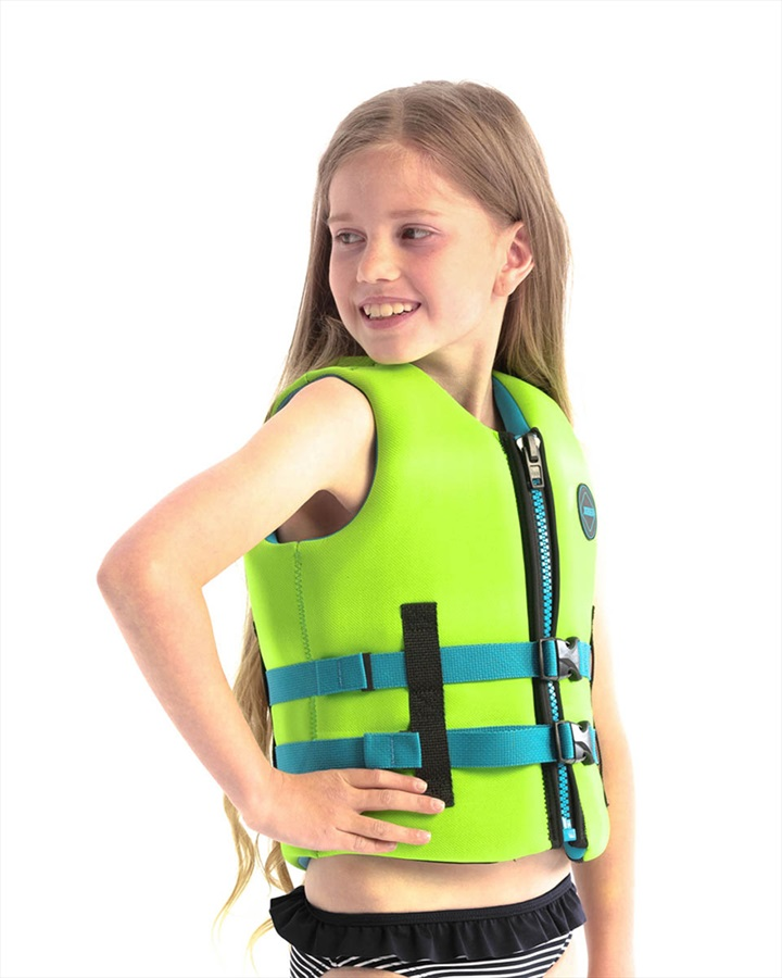 Jobe Neoprene Life Vest Kids Buoyancy Aid, 6 / 116 Lime Green 2021