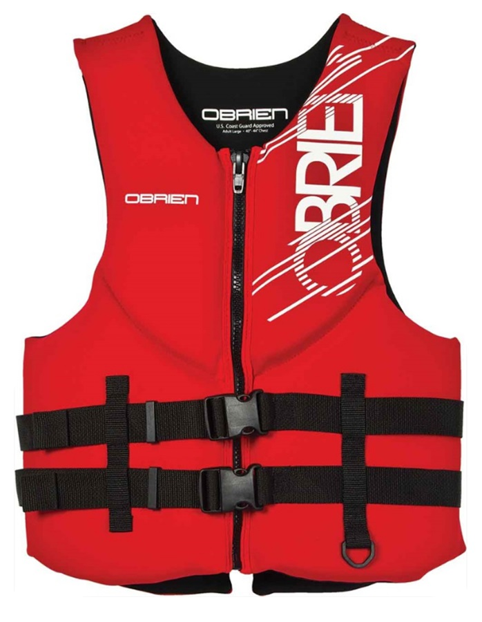 O'Brien Traditional Watersports Impact Buoyancy Aid, XS Red
