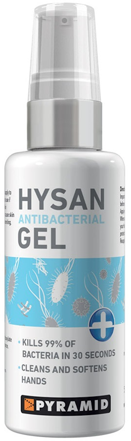 Pyramid Hysan Hand Sanitiser Gel Antibacterial Travel Protection, 60ml