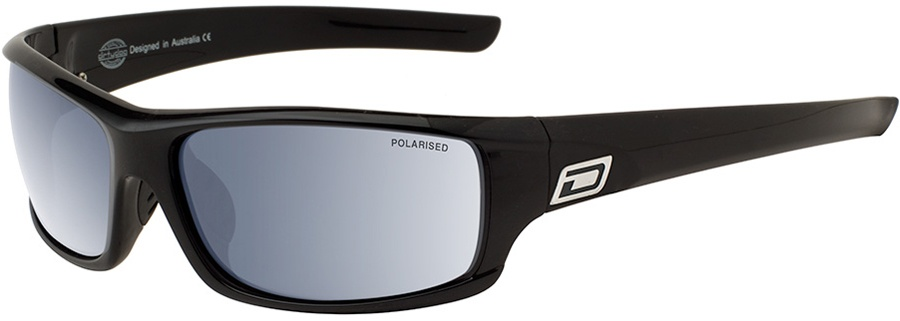 Dirty Dog Clank Silver Mirror Polarized Sunglasses, M Black