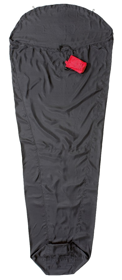 Cocoon Expedition Liner Ripstop Silk Sleeping Bag Liner, M/L Black