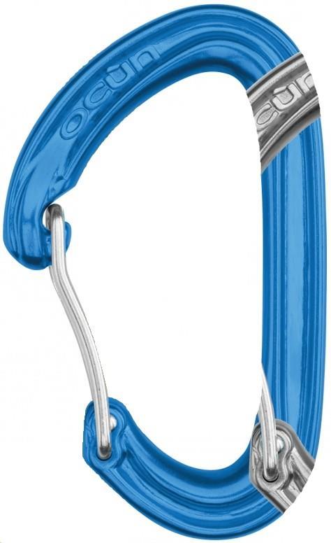 Ocun Kestrel Wire Gate Rock Climbing Carabiner, 23kN Blue